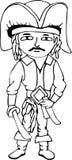 Pirata del fumetto disegnato a mano Fotografia Stock