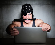 Pirata del Internet Fotografia Stock