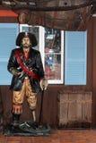 Pirata del pueblo del puerto, California Foto de archivo