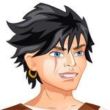Pirata dell'avatar del carattere di vettore sull'isolato su Fotografie Stock