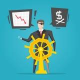 Pirata dell'uomo d'affari illustrazione vettoriale