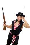 Pirata dell'uomo isolato sui precedenti bianchi Fotografia Stock Libera da Diritti