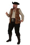 Pirata di peso eccessivo aggressivo isolato Immagine Stock Libera da Diritti