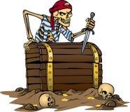 Pirata di scheletro Immagini Stock Libere da Diritti