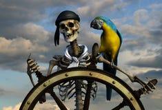 Pirata di scheletro Fotografie Stock