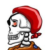 Pirata di scheletro spaventoso epico illustrazione vettoriale