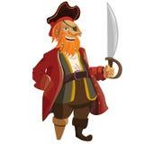 Pirata di vettore del fumetto isolato sopra Fotografia Stock