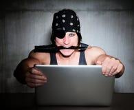 Pirata do Internet Fotografia de Stock