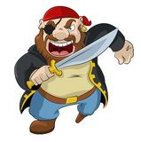 Pirata dos desenhos animados Fotos de Stock Royalty Free