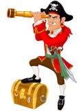 Pirata dos desenhos animados Foto de Stock Royalty Free