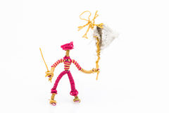 Pirata e bandiera del giocattolo del cavo Immagini Stock Libere da Diritti