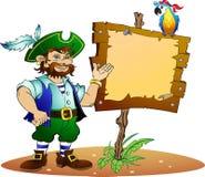 Pirata e pappagallo Fotografia Stock