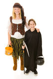 Pirata e Reaper di Halloween immagini stock libere da diritti