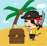 Pirata ed uccello della scimmia Immagine Stock