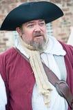 Pirata en el fuerte George Fotografía de archivo