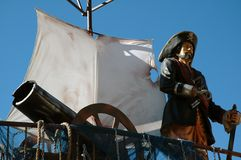 Pirata en la nave. Foto de archivo