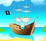 Pirata-envie ilustração stock