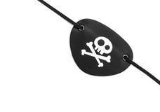 Pirata eyepatch na bielu Obrazy Stock
