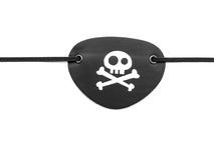 Pirata eyepatch na bielu Obrazy Royalty Free
