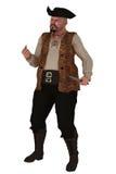 Pirata gordo agresivo aislado Imagen de archivo libre de regalías