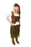 Pirata grazioso di Halloween Fotografia Stock