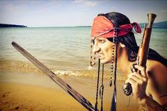 Pirata hermoso Imagen de archivo