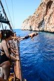 Pirata i nurka anakonda Fotografia Stock