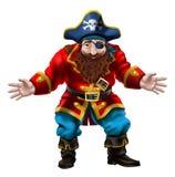 Pirata, il marinaio allegro illustrazione di stock