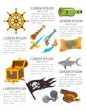 Pirata infographics Obraz Stock