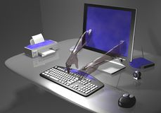 Pirata informático Imagen de archivo libre de regalías