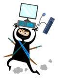 Pirata informático stock de ilustración