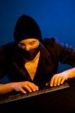 Pirata informático de ordenador Imagenes de archivo