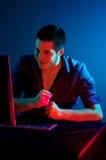 Pirata informático de ordenador Foto de archivo