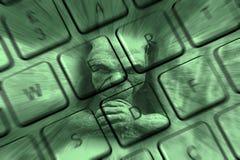 Pirata informático de ordenador fotografía de archivo libre de regalías