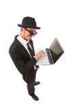 Pirata informático de ordenador Imágenes de archivo libres de regalías
