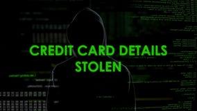 Pirata informático financiero que roba los detalles de la tarjeta de crédito, bloque de la cuenta bancaria, pérdida del dinero metrajes