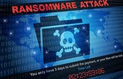 Pirata informatico di malware di attacco di Ransomware intorno ai precedenti del mondo Fotografie Stock Libere da Diritti
