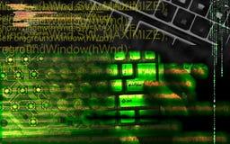 Pirata informático en el trabajo Foto de archivo libre de regalías