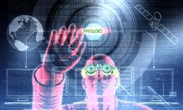 Pirata informático en la acción 03 Imagen de archivo