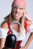 Pirata irritado de Halloween Fotos de Stock Royalty Free