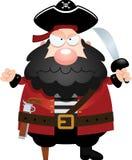 Pirata irritado dos desenhos animados Fotos de Stock Royalty Free