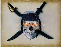 Pirata krzyż czaszki kości i Obrazy Royalty Free