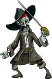 Pirata malvado del zombi de la historieta Imagen de archivo libre de regalías