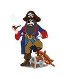 Pirata monco di una gamba Fotografia Stock Libera da Diritti