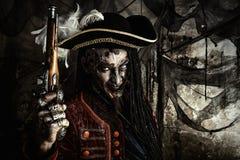 Pirata morto coraggioso fotografie stock libere da diritti