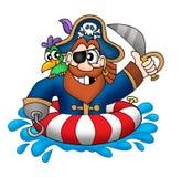 Pirata no anel da natação Foto de Stock