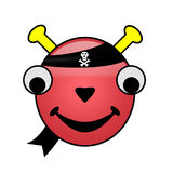 pirata obcy smiley obraz stock