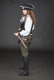pirata pozyci kostiumu kobiety potomstwa Zdjęcia Stock