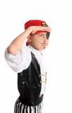 Pirata que olha para fora Fotografia de Stock
