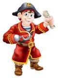 Pirata que sostiene un mapa del tesoro Fotografía de archivo